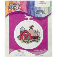 Barn Mini Counted Cross Stitch Kit
