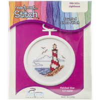 Lighthouse Mini Counted Cross Stitch Kit