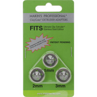 Makin's Professional ClayCore Extruder Adapters 3/Pkg – Set 2 (1mm, 2mm & 3mm)