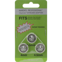Makin's Professional ClayCore Extruder Adapters 3/Pkg – Set 1 (3.5mm, 4mm & 5mm)