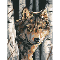Wolf Among Birches