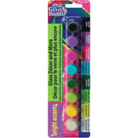 Americana Gloss Enamels Paint Pots 8/Pkg – Bright Accents