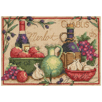 Dimensions - Mediterranean Flavors Mini Counted Cross Stitch