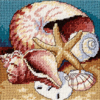 Dimensions - Shell Collage Mini Needlepoint