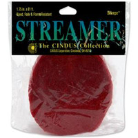 """Crepe Streamers 1.75""""X81' – Flame Red"""