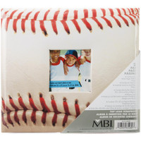 "Sport & Hobby Post Bound Album W/Window 8""X8"" – Baseball"