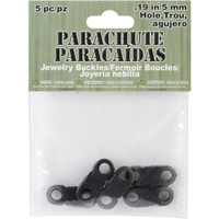 Parachute Cord Jewelry Buckles 5mm 5/Pkg – Black
