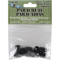 Parachute Cord Safety Buckles 5mm 5/Pkg – Black