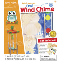 WIND CHIME OWL WOOD PAINT KIT