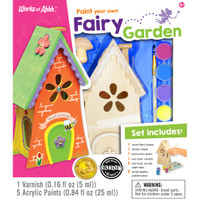 FAIRY GARDEN WOOD PAINT KIT