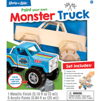 MONSTER TRUCK WOOD PAINT KIT