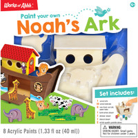 NOAH'S ARK DELUXE WOOD PAINT KIT