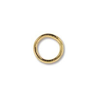 14k Gold Filled Soldered 7mm Jumpring - 2 piece pack