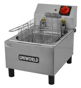 1 Basket Counter Top Fryer Electric Deluxe UNIWORLD UF-1B (NEW) #3873