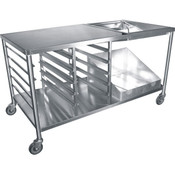 "66"" Donut Table Stainless Steel DN-TBL NEW #3895"