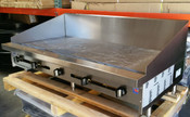 """72"""" Flat Top Griddle w/1"""" Plate & 12"""" High Back Splash SMG-72-SB-12H-NG Gas (NEW) #4101"""