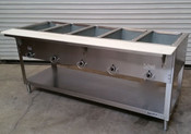 5 Well Gas Steam Table Dry Bath 305 AEROHOT (NEW) #4407