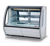 """74"""" Refrigerated Display Case TEM-200 PLUS (WHITE) (NEW) #4952"""