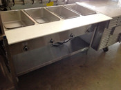 4 Well Electric Steam Table E304 AEROHOT (NEW) #1199