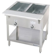 2 Well Electric Steam Table Dry Bath E302 AEROHOT (NEW) #3397