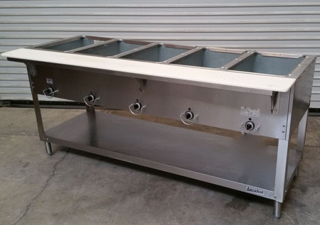 5 Well Lp Propane Steam Table Dry Bath 305 Lp Aerohot New