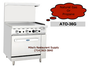 "36"" Range 36"" Griddle & Gas Oven Cook Rite ATO-36G NEW #6042"