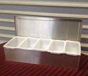 5 Compartment Bar Garnish Tray THUNDER GROUP SSCD005 (NEW) #2048