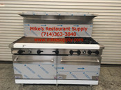 "60"" Range 6 Burner & Griddle & Gas Ovens Stratus SR-6G24 LP Propane NEW #7275"