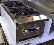 """12"""" 2 Burner Hot Plate SHP-12-2 NG Gas NEW #1050"""