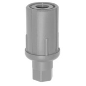 """Adjustable Bullet Foot Plastic for Work Table 1-5/8"""" Round #1313"""