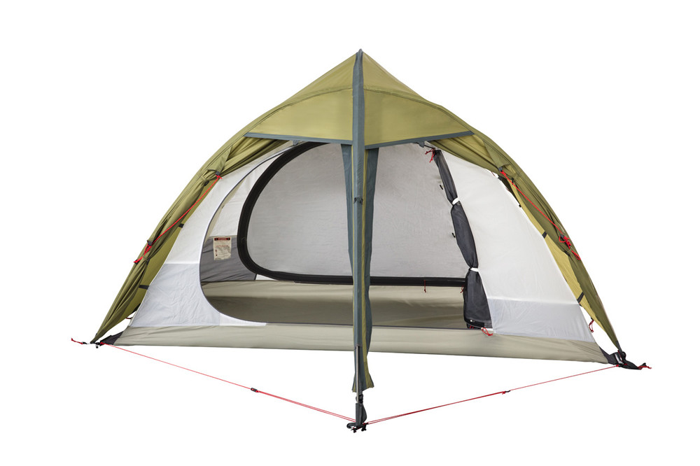 Partially open Hawk II Expedition Tent.