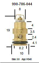 Mikuni 786-36011 and 990-786-044 Viton Tip Needle Valve for HS40 TM40 TM36 Pumper Carburetors