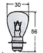 Headlight Bulb 6V Or 12V A7007 for Vintage Bikes