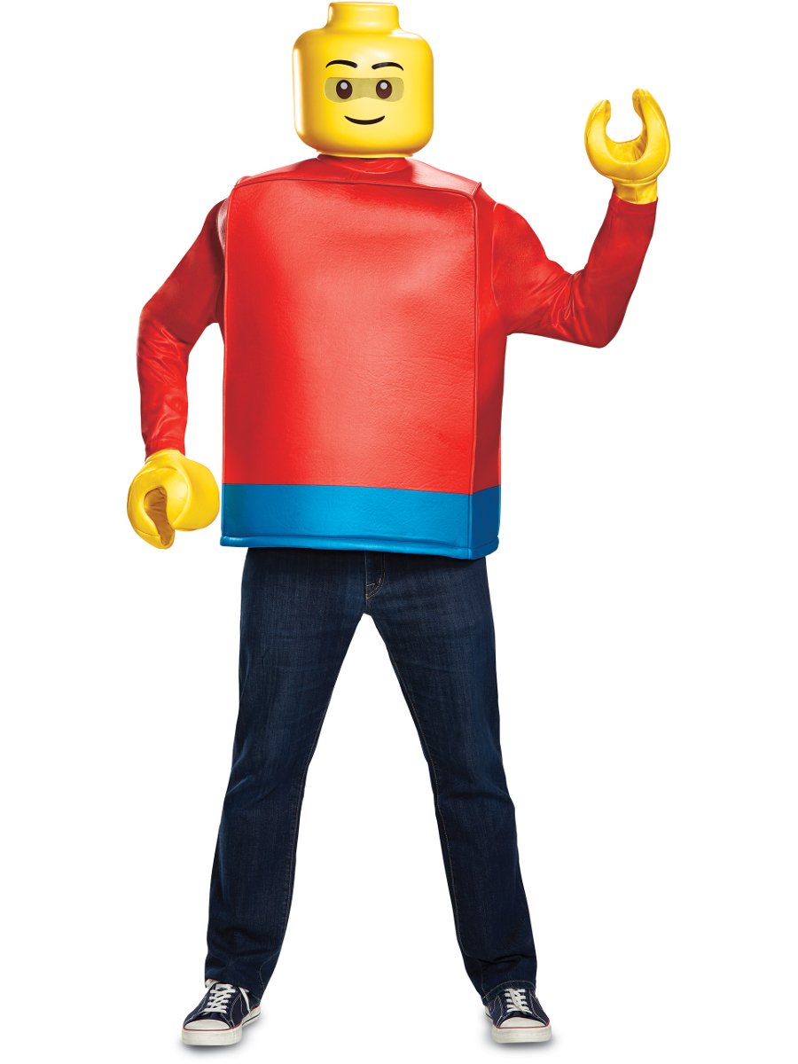 Lego Man Halloween Costume.Details About Adult S Iconic Lego Man Minifigure Costume X Large 42 46