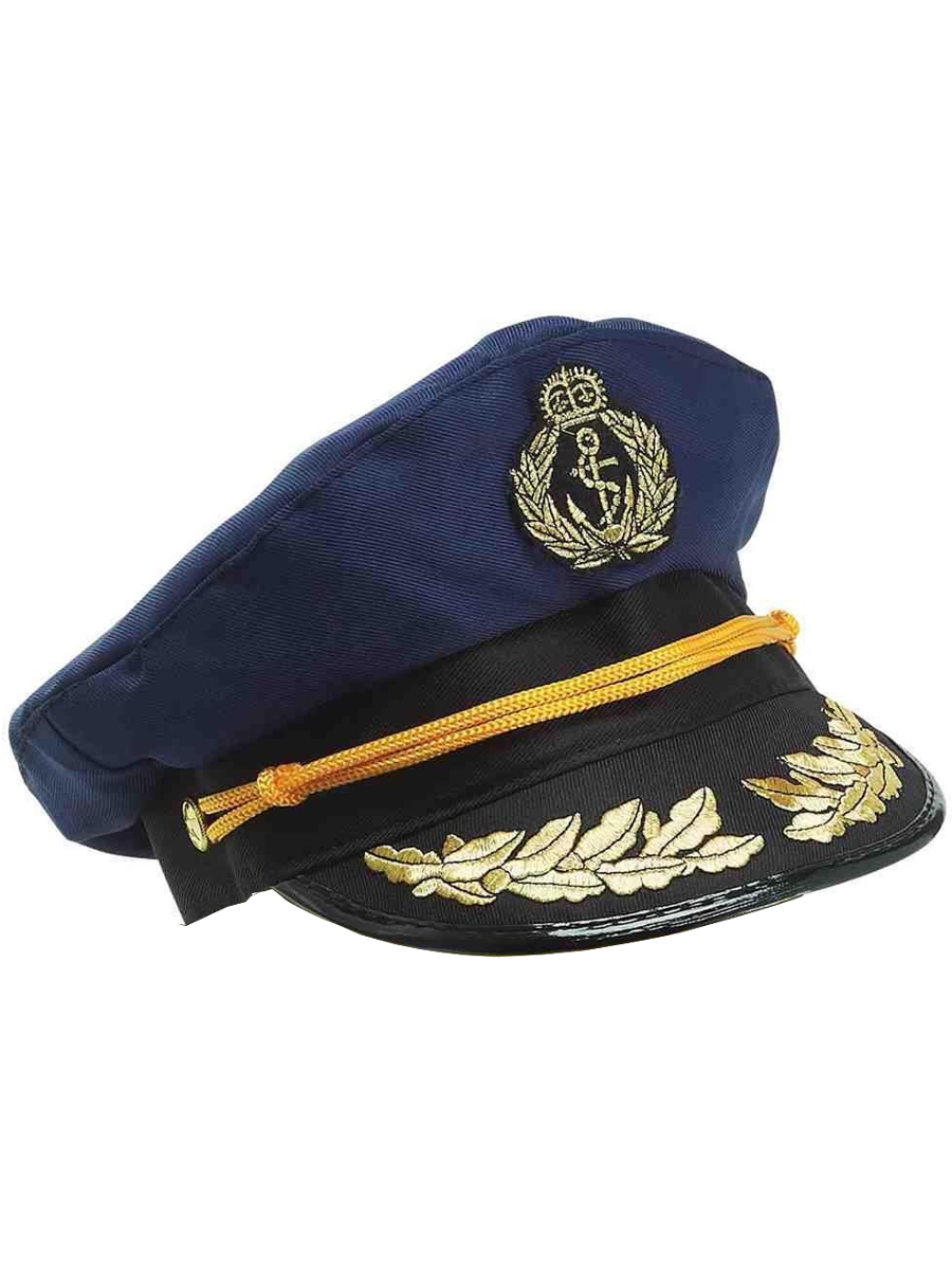 Deluxe Blue Yacht Captain Nautical Sailor Hat Navy Cap 721773673689 ... 96e03a8afc1
