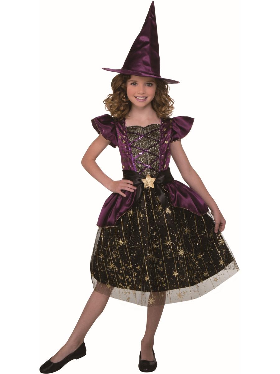 Classic Halloween Night Witch Girl/'s Costume