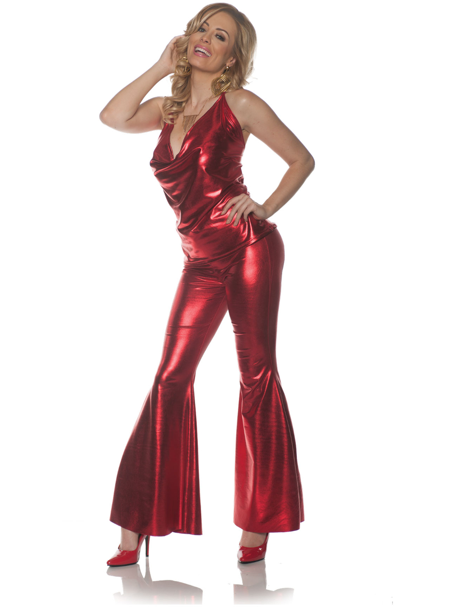 ecedfc631da UNDERWRAPS 70s Disco Ladies Night Red Costume