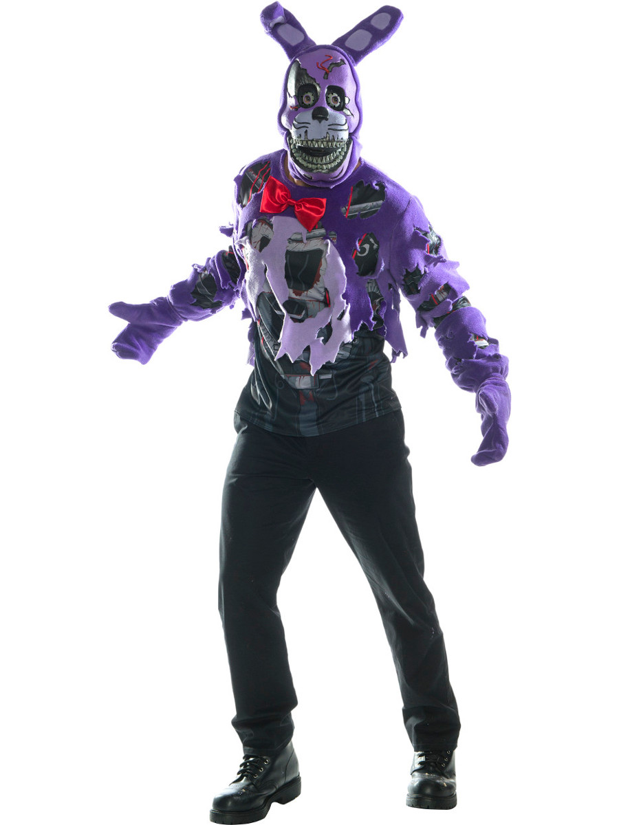 adult mens five nights and freddys 4 nightmare bonnie costume click to enlarge