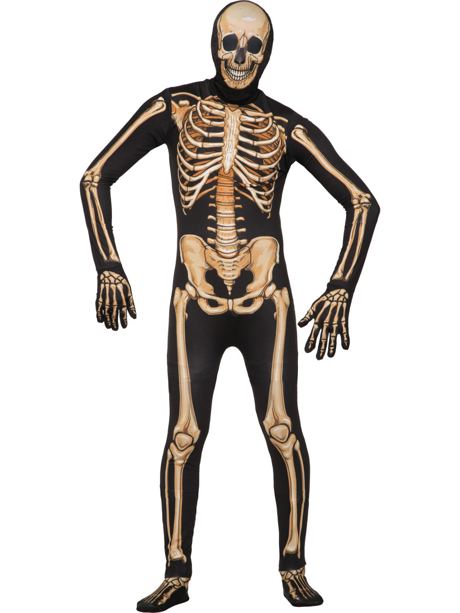 Disappearing Skeleton Suit Mens Deluxe Costume