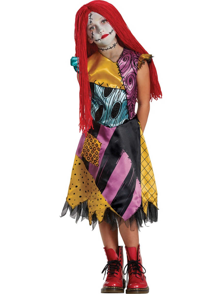 The Nightmare Before Christmas Sally Dress Deluxe Girl\'s Costume