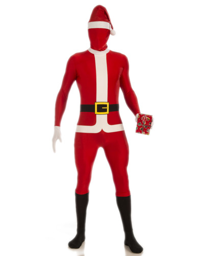 Santa claus full body zentai jumpsuit