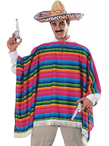 Mens Mexican Serape Costume-5731