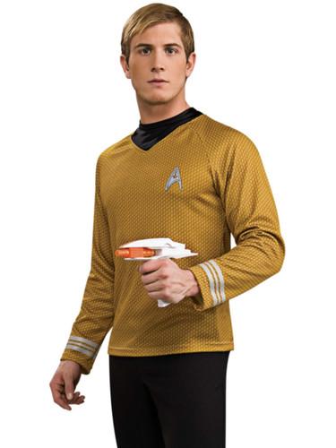 Star Trek Into Darkness Menu0027s Deluxe Gold Captain Kirk Command Costume Shirt  sc 1 st  BlockBuster Costumes & Star Trek Into Darkness Menu0027s Deluxe Gold Captain Kirk Command ...