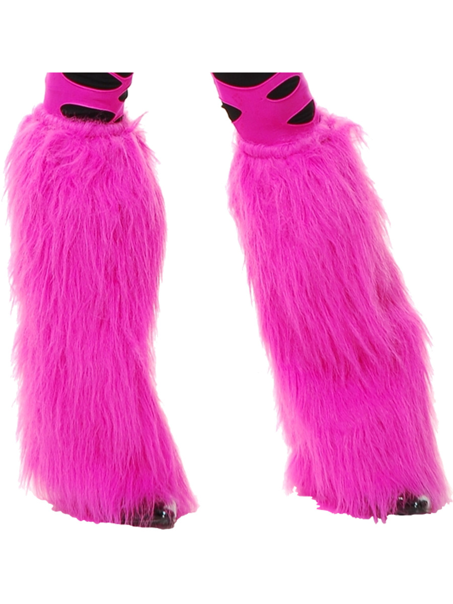 Deluxe Hot Pink Sexy Club Furry Monster Leg Warmers-9367