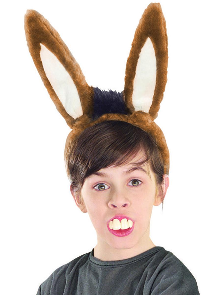 Shrek Costume Accessory Donkey Teeth and Ear Set New  sc 1 st  BlockBuster Costumes & Kids or Adult Shrek Donkey Costume Ears u0026 Teeth Set