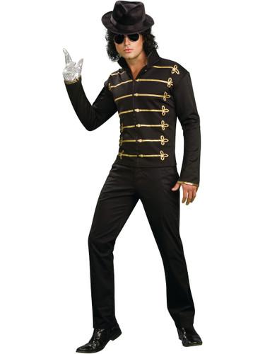 Adult Man Michael Jackson Black Gold Military Jacket-3005