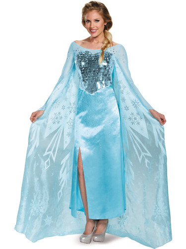 ... Adult Elsa Ultra Prestige Frozen Dress. //d3d71ba2asa5oz.cloudfront.net/13000039/images/dc91462-  sc 1 st  BlockBuster Costumes & Adult Elsa Ultra Prestige Frozen Dress
