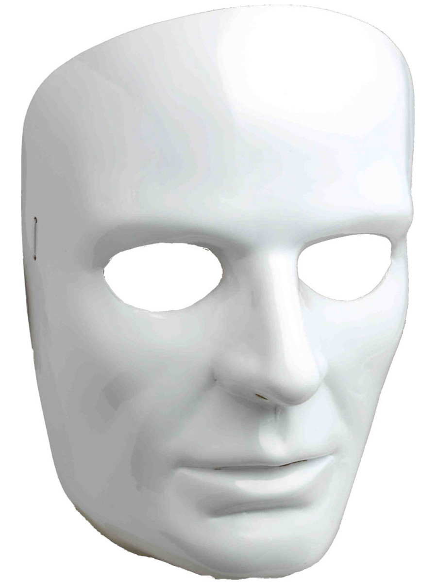 white male face mask