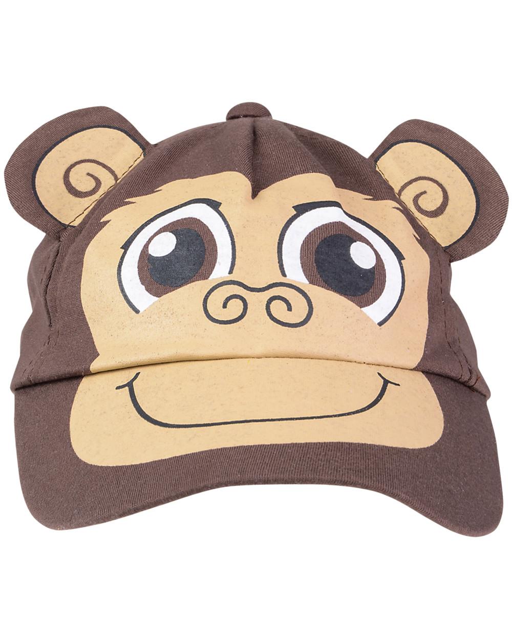Adult's Brown Monkey Baseball Cap