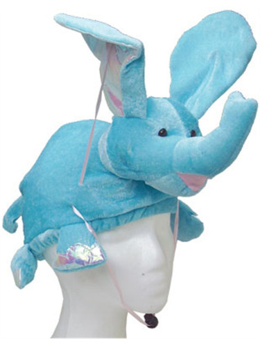 ... Blue Elephant Hat Costume Cap. //d3d71ba2asa5oz.cloudfront.net/13000235/images/uth355-  sc 1 st  BlockBuster Costumes & Stuffed Plush Flying Blue Elephant Hat Costume Cap